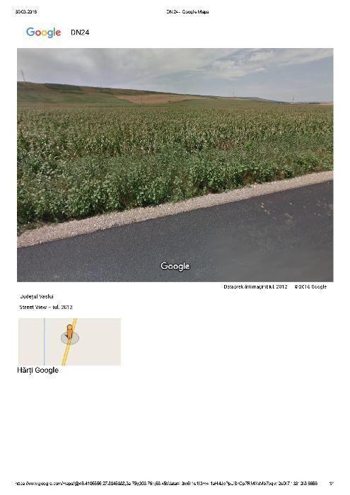 vând 7,8 ha teren, 50-350 m deschidere la DE 581