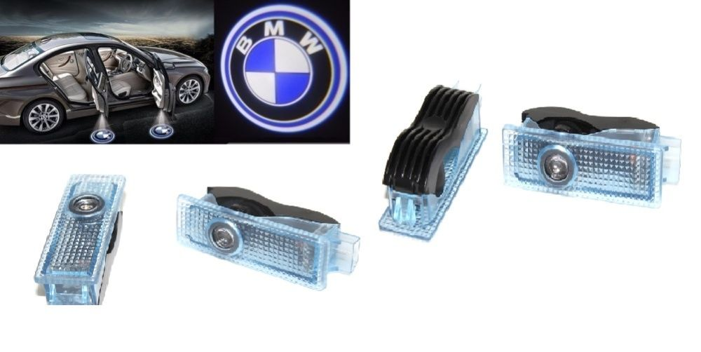 Set lampi dedicate cu logo BMW pentru portiere BMW F30, F34, F32, E70,