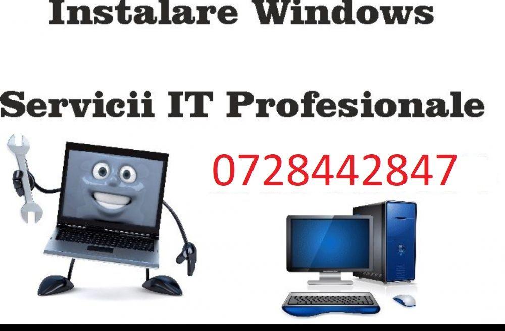 Instalare windows la domiciliu, reparatii calculatoare laptop