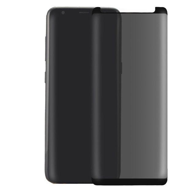 Folie Din Sticla Curbata Privacy Neagra - Samsung Note 8 S8 S8+ S9 S9+