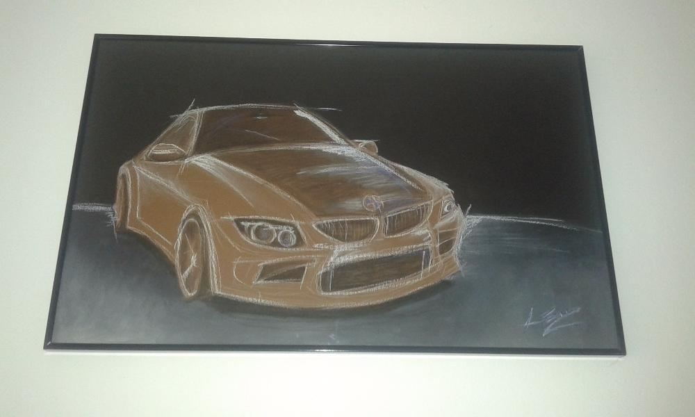 Tablou pastel BMW- masina