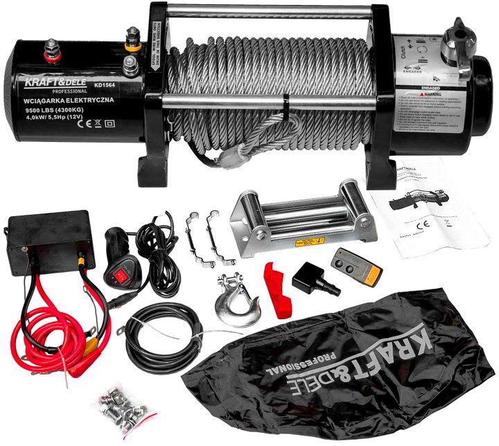 Troliu Auto 12 V 9500 LBS - KRAFTDELE - KD1564-Winch - Troliu electric