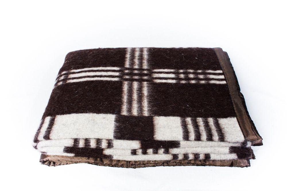 Patura traditionala din lana 50%, alb/maro, 1.8 kg