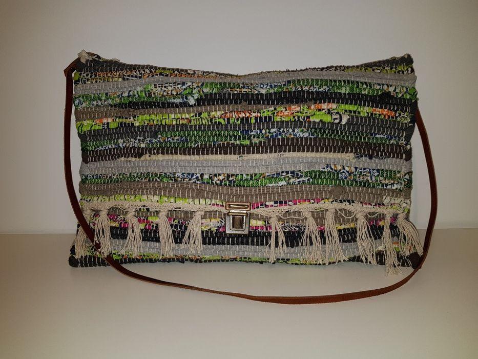 Geanta material textil tip covor HANDMADE Grecia