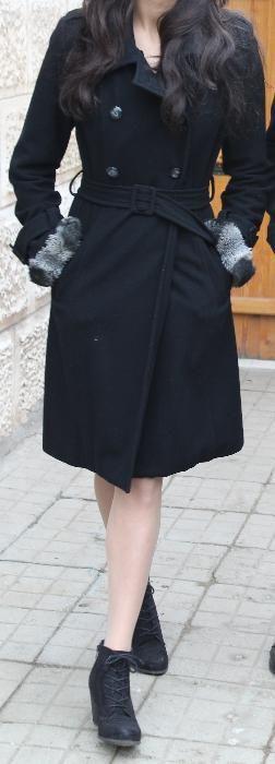 Зимно палто черно