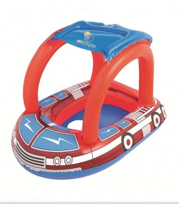 Надувной плавательный круг с тентом