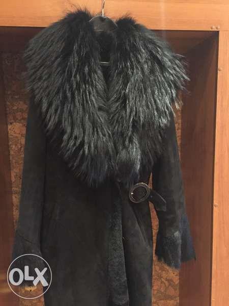 Уникално палто Кожа - енот, пони и овча. НОВО