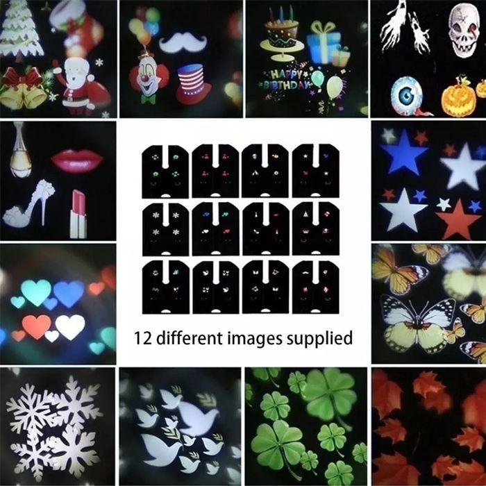 12 слайда за коледен прожектор лазер