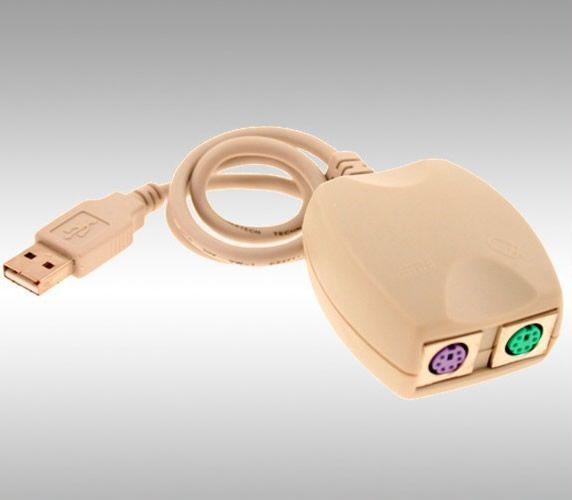 Adaptador Convertidor USB a PS/2 (Novo)
