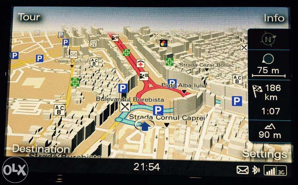 Update Actualizare Harti 2019 Navigatie MMI 3G Audi A4 A5 A6 A8 Q5 A7 Bucuresti - imagine 2