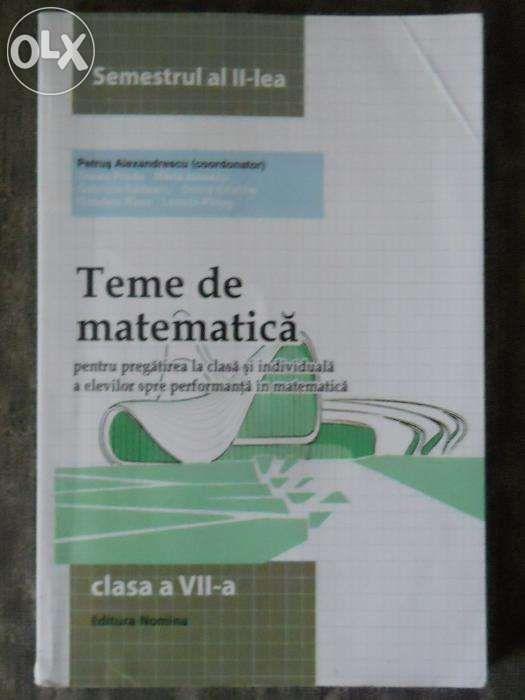 MANUAL CLASA VII - Lb. Romana, Matematica, Chimie, Ed. Tehnologica