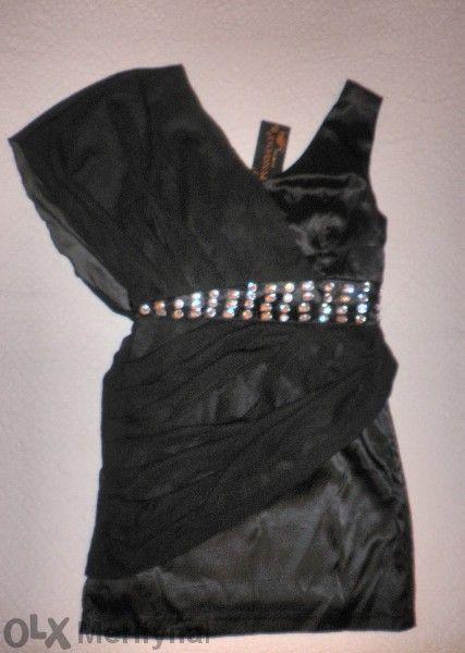 Стилна и елегантна черна рокля
