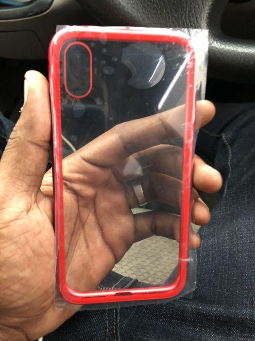 Capa metálica e transparente para iPhone X
