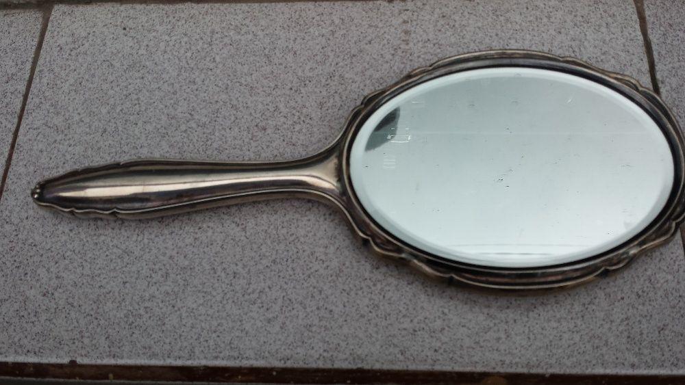 Старинно сребърно кристално огледало
