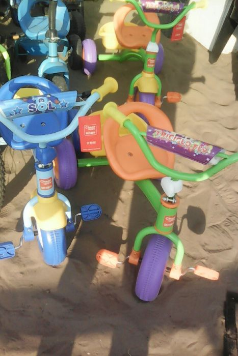 Unisexo bikes de crianças dos 3 anos aos 7 aninhos, terciclos
