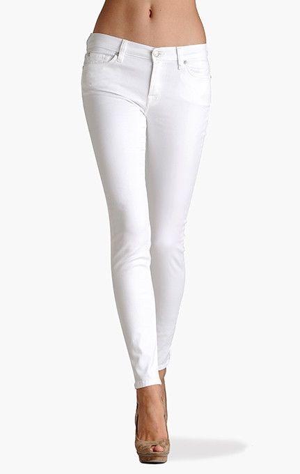 FORNARINA Pantaloni Jeans Dama Alb Silver Glamour Strech Conici Italia