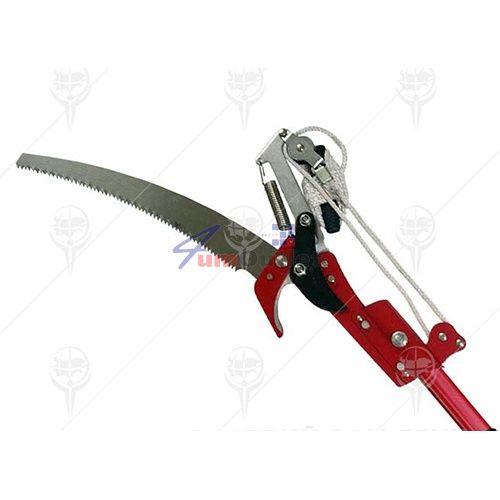 Ножица за клони за високо рязане в комплект с трион