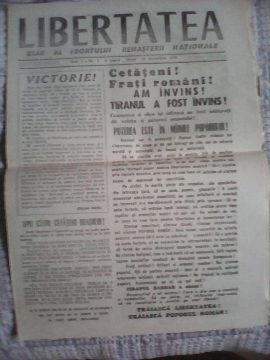 Ziar Libertatea nr.1 din 22 dec.1989