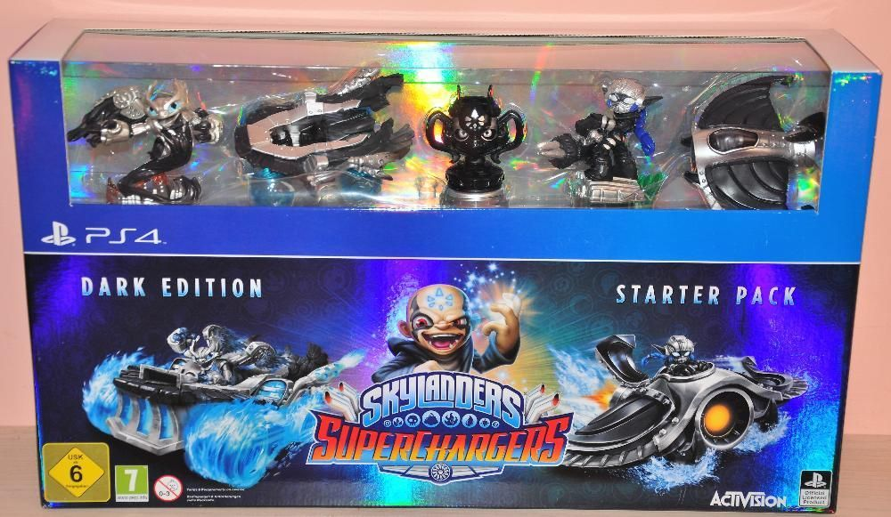 Нов и Запечатан Special Skylanders Superchargers Dark Edition Pack