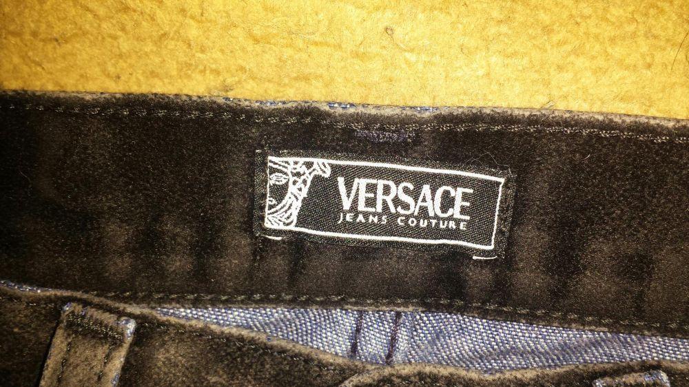 Blugi Versace cu curea piele Levis ,Trimit si in tara