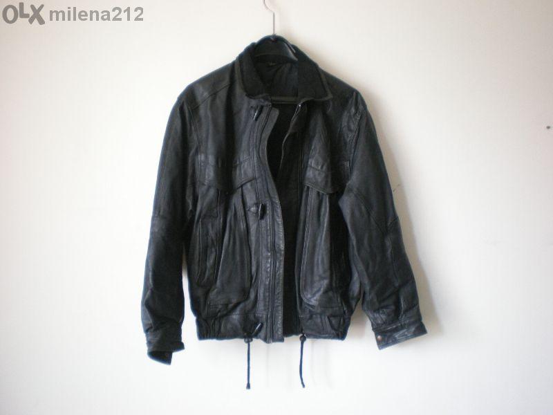 черно кожено мъжко яке