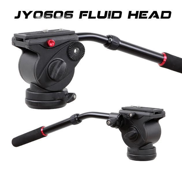 JY0606H Fluid Drag Video Tripod Head Flat Base ( 6Kg ),patina Manfotto