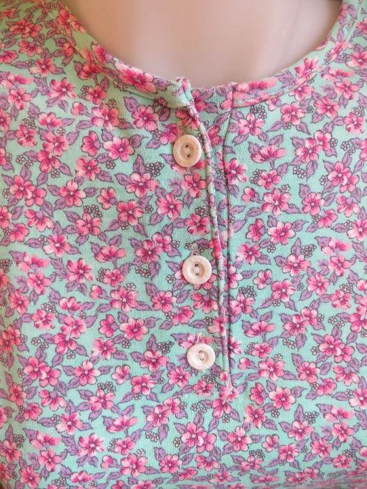 Дамска блуза на розово-лилави цветя, М-L