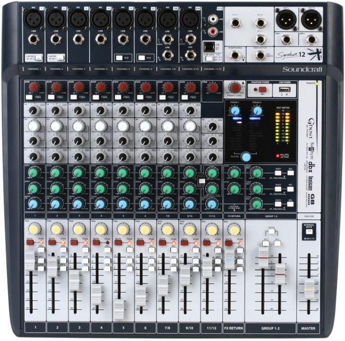 Mixer analogic soundcraft signature 12