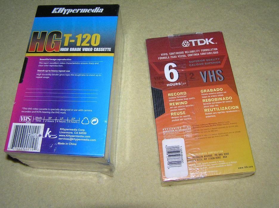 caseta video VHS T120