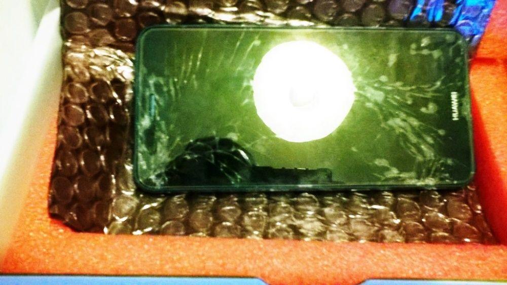 Комплект работи ориг. за Huawei P10 Lite LCD+синя рамка+батерия+рамка+