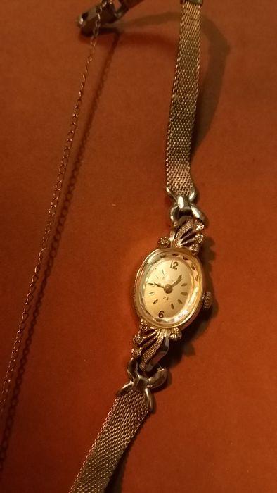 ceas aur alb 14k +8 diamante Bulova Bucuresti - imagine 5