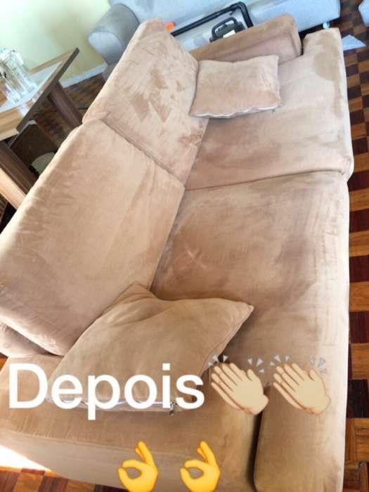 Lavagem e polimento de sofá