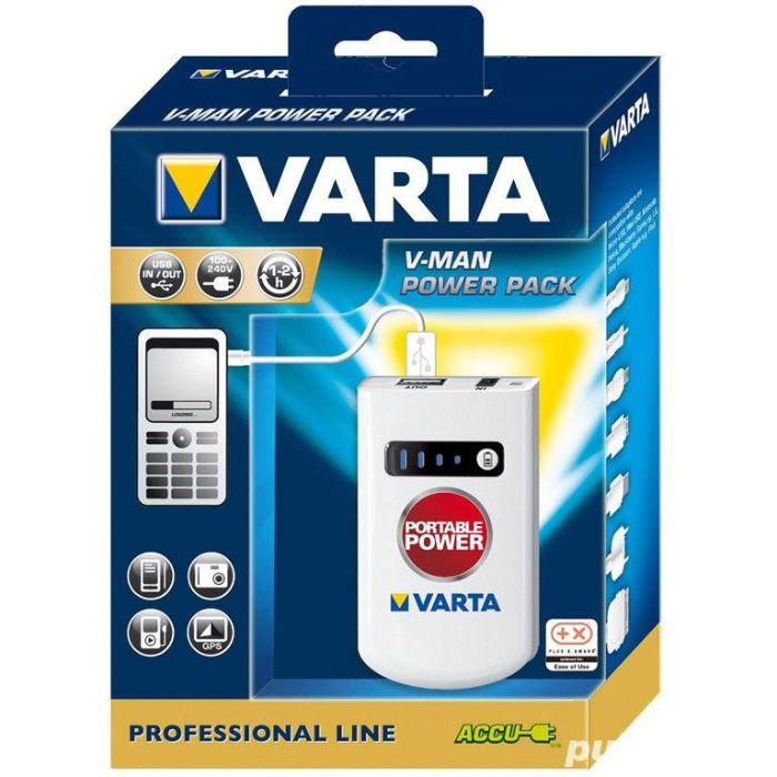VARTA Acumulator + Accesorii V-MAN 2.0, Li-ion, Adaptoare, Husa. NOU
