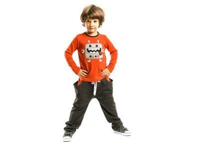 Set bluza + pantalon baieti Robot
