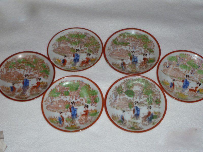 Китайски сервиз от 6 чинийки, китайски порцелан