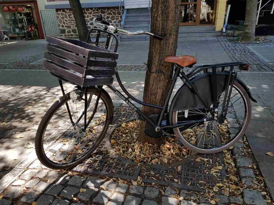 Дървена щайга за колело!