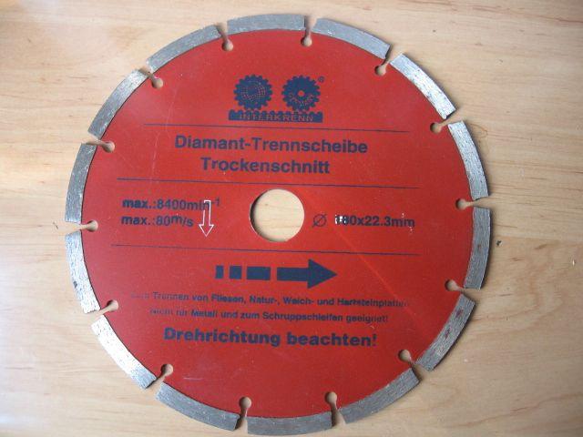 Disc diamantat ptr.gresie , beton, marmura. 180 x 22,3mm.