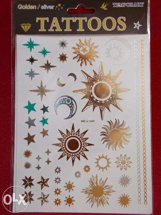 Tatuaje temporare flash aurii argintii (pret pe folie) tattoos gold