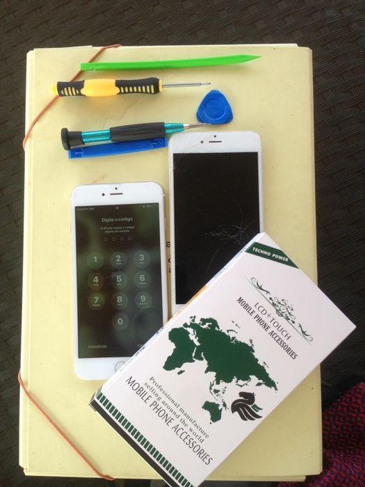 Ecrã/visor genuíno para todos modelos de iPhone (montagem ao domicílio