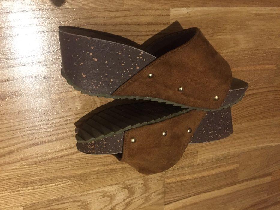 Нови чехли със стелка от ест.кожа ,н 36
