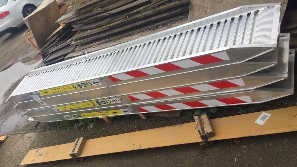 Rampe aluminiu incarcare buldoexcavatoare sarcina 10tone