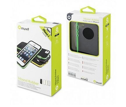 Husa Apple iPhone 5 Muvit + Folie Protectie ecran Nevox UltraClear