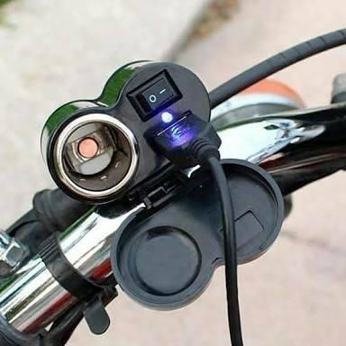 Carregador usb para carregar telefone na motorizada