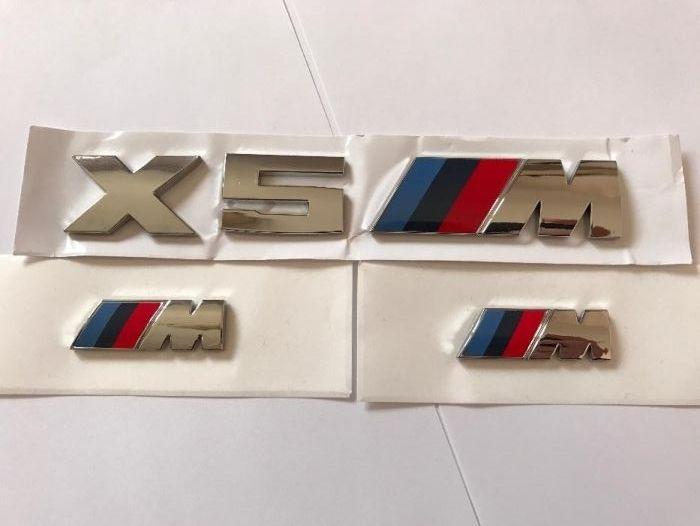 Set Emblema BMW X5M aripi/spate abs originale crom