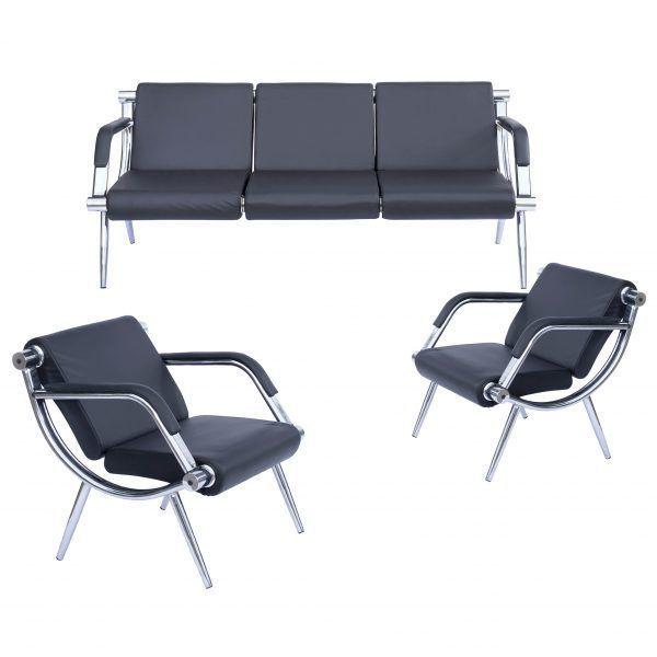 Set birou format din 2 scaune si o banca