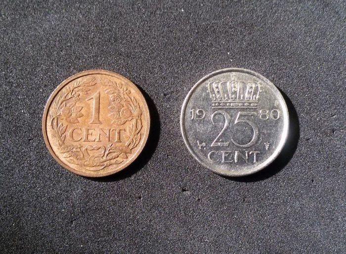 Холандски цент- 1928г. и 1980г.