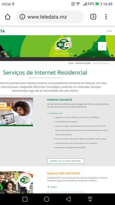 Internet Residencial —Teledata de Moçambique