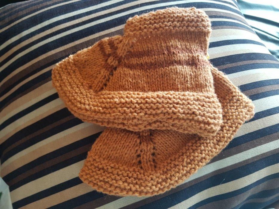 Детски плетени вълнени чорапи
