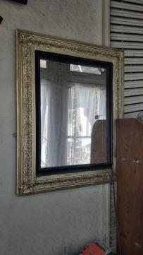 Oglinda neobaroc vintage ramă auriu cu negru