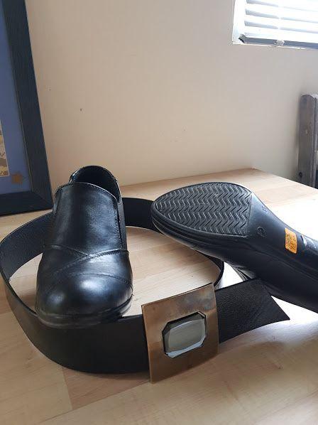 лот черни дамски обувки и колан нови